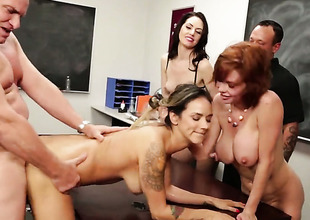 Classroom orgy with breasty Veronica Avluv