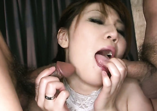 Asian milf in the matter of lingerie Yuria Kano