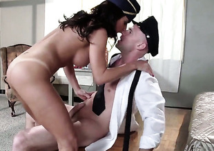Johnny Sins is horny added to cant wait any longer to group-sex magically sexy Lezley Zens frowardness