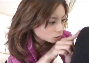 Natsumi Mitsu rides dildo and gets cumshot