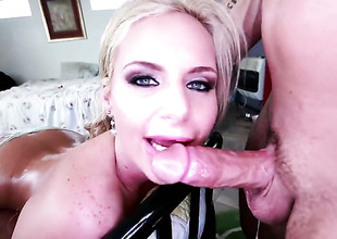 Phoenix Marie has some time to receive some fun with men cock in her mouth
