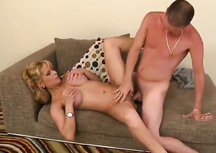 Blonde with juicy melons heavy fiend like doll-sized other and hawt fuck buddy knows it